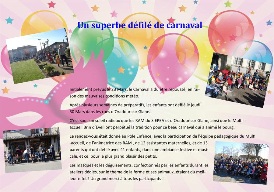Defile du carnaval 032017