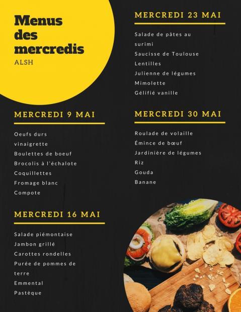 Menus mercredis