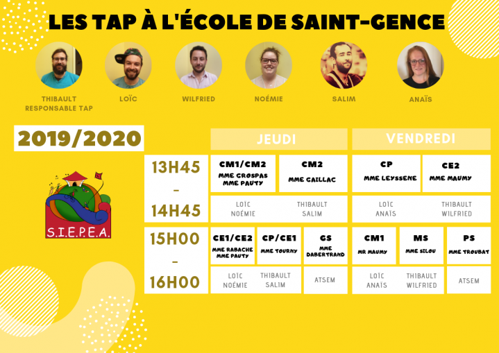 Planning tap st gence 2019 2020